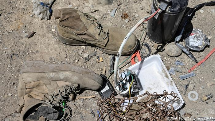 Shoes, wire and more US garbage at the Bagram junkyard