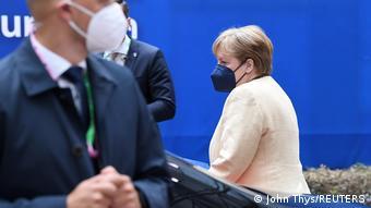 Канцлер ФРГ Ангела Меркель в Брюсселе