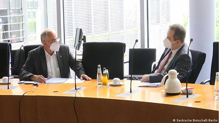 Deutschland/Serbien Der serbische Parlamentspräsident Ivica Dacic im Bundestag