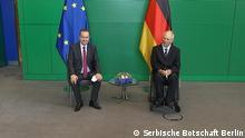 25.6.2021, Berlin, Deutschland, Der serbische Parlamentspräsident Ivica Dacic im Bundestag