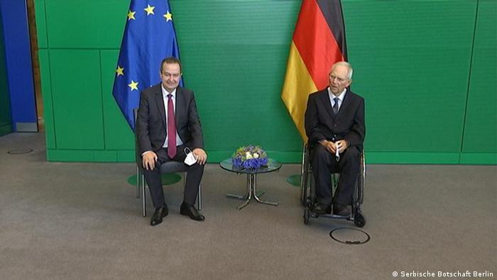 Ivica Dačić i Volfgang Šojble u Berlinu 25.6.2021.