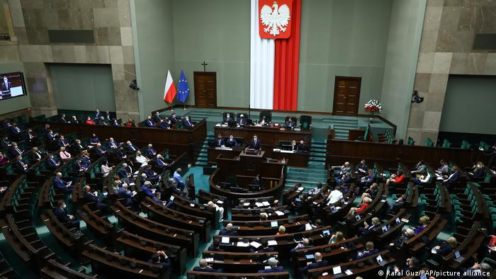 Polish parliament in session