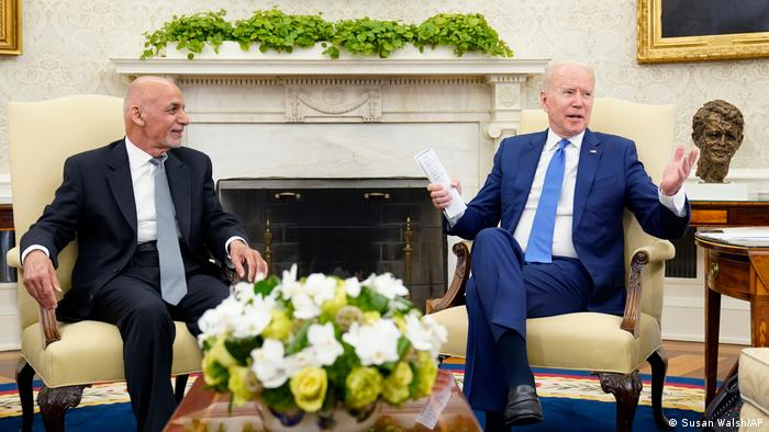USA I Washington I Afghanistans Präsident Ashraf Ghani und Präsident Joe Biden