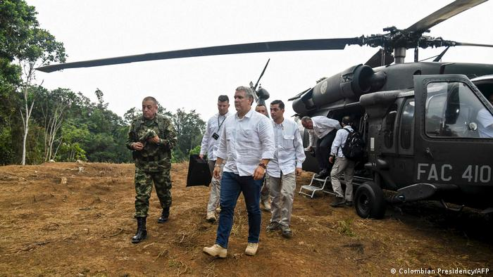 Presunto atentado contra helicóptero de FF.AA. en el que iba Duque el 25 de junio de 2021