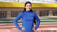Farzaneh FASIHI, 100-Meter.Sprinterin aus Iran, Olympia-Teilnehmerin in Tokio 2021 Quelle: saednews.com (rechtefrei)