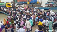 Lockdown sparks exodus from Dhaka Shimulia ferry terminal teems with crowds as lockdown spurs exodus from Dhaka