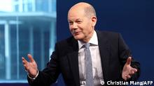 German Finance Minister Olaf Scholz of the Social Democratic Party (SPD) attends a television debate in Berlin, Germany, June 26, 2021. (Photo by CHRISTIAN MANG / POOL / AFP)