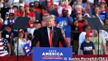 Former U.S. President Trump holds his first post-presidency campaign rally at the Lorain County Fairgrounds in Wellington, Ohio, U.S., June 26, 2021. REUTERS/Gaelen Morse