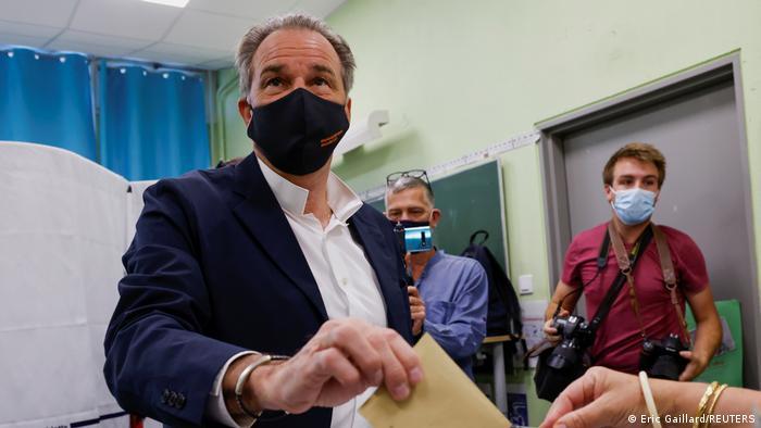 Frankreich Regioanlwahlen 2021 Wahllokal Renaud Muselier