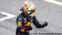 SPIELBERG, AUSTRIA - JUNE 27: Race winner Max Verstappen of Netherlands and Red Bull Racing celebrates in parc ferme during the F1 Grand Prix of Styria at Red Bull Ring on June 27, 2021 in Spielberg, Austria. (Photo by Mark Thompson/Getty Images)