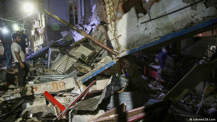 Bangladesch   Gebäudeeinsturz in Dhaka