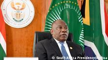 18.06.2020 200618 -- PRETORIA, June 18, 2020 Xinhua -- South African President Cyril Ramaphosa speaks at the Extraordinary China-Africa Summit on Solidarity against COVID-19 in Pretoria, South Africa, June 17, 2020. The summit, held via video link, was jointly proposed by China, South Africa, the rotating chair of the African Union AU, and Senegal, the co-chair of the Forum on China-Africa Cooperation FOCAC. South Africa Presidency/Handout via Xinhua SOUTH AFRICA-PRETORIA-PRESIDENT-EXTRAORDINARY CHINA-AFRICA SUMMIT PUBLICATIONxNOTxINxCHN