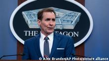 04.06.2021 Pentagon spokesman John Kirby speaks during a media briefing at the Pentagon, Friday, June 4, 2021, in Washington. (AP Photo/Alex Brandon)