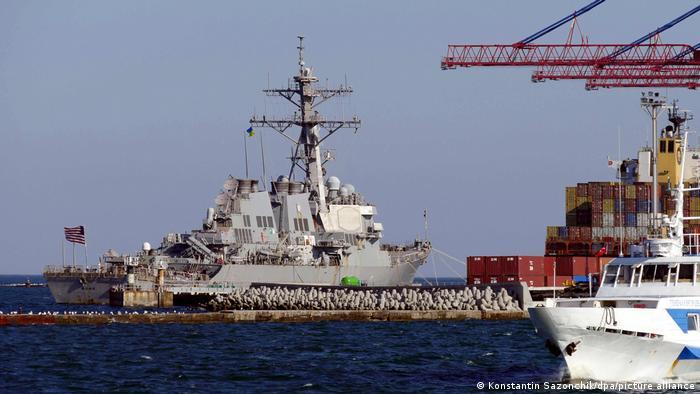 US-Zerstörer Ross im Hafen von Odessa, Juni 2021