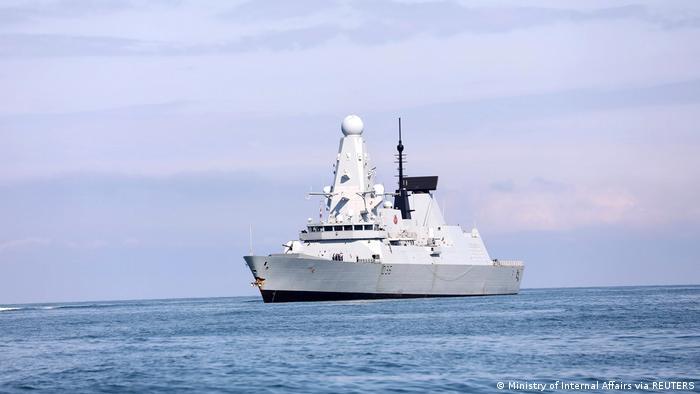 İngiliz savaş gemisi ''HMS Defender'' Karadeniz'de Batum açıklarında