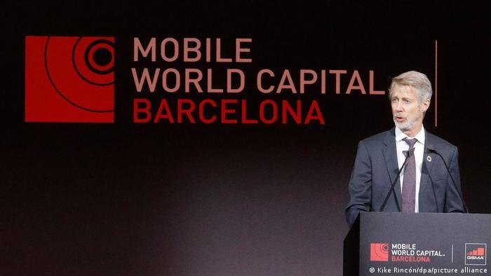 Mats Granryd , CEO de GSMA, durante la apertura del Mobile World Congress 2021.