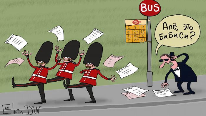 Karikatur von Sergey Elkin |Geheimdokumente