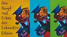 Montage aus Buchcovern Michael Ende: Jim Knopf *** ACHTUNG: Nur für Projekt Exportschlager Kinderbuch verwenden! ***