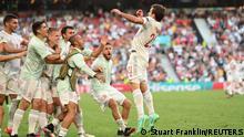 Soccer Football - Euro 2020 - Round of 16 - Croatia v Spain - Parken Stadium, Copenhagen, Denmark - June 28, 2021 Spain's Mikel Oyarzabal celebrates scoring their fifth goal Pool via REUTERS/Stuart Franklin
