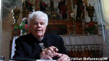 Der siebenbürgisch-sächsischen Pfarrer und dem Schriftsteller Eginald Schlattner bei einer Lesung aus seinem neusten Roman Wasserzeichen, Roșia / Rothberg, Rumänien, .25. Juni 2021