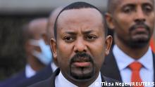 13.06.2021 FILE PHOTO: Ethiopian Prime Minister Abiy Ahmed arrives for the inauguration ceremony of the Meskel square, marking the last election rally he will hold in Addis Ababa, Ethiopia, June 13, 2021. REUTERS/Tiksa Negeri/File Photo