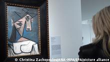 04.01.2012 Das Gemälde «Frauenkopf» von Picasso, das in der Nationalgalerie von Athen ausgestellt war. Im Fall des vor neun Jahren in Athen gestohlenen Picasso-Werks «Frauenkopf» herrscht in Griechenland weiterhin Hoffnung, das Bild könne noch auftauchen. (zu dpa: «Gestohlener Picasso: Griechen haben Hoffnung nicht aufgegeben») +++ dpa-Bildfunk +++