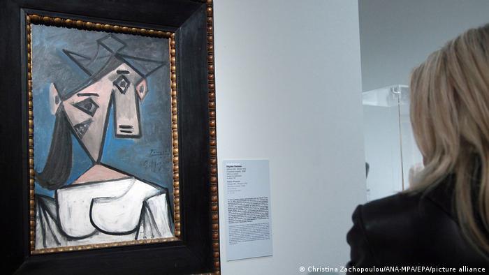 Griechenland Gestohlenes Picasso Gemälde Frauenkopf