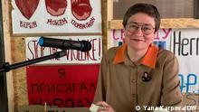 Olga Shparaga, Philisophin, Autorin des Buchs Die Revolution in Belarus hat ein weibliches Gesicht DW, Yana Karpova