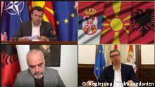 29.06.2021 Virtuelle Treffen zwischen der Premierminister von Nordmazedonien und Albanien, Zoran Zaev und Edi Rama und der Serbische Präsident Aleksandar Vucic.