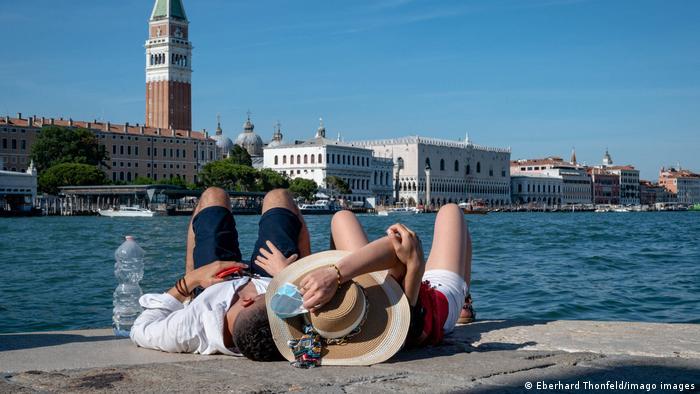 Turistas em Veneza: Itália é um dos países que já aceita o certificado de vacinação