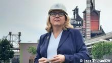 Zeche Zollverein. Thyssenkrupp Steel in Duisburg, die grösste Stahlschmiede Europas, die auf Wasserstoff umstellen. Sommerreise mit Umweltministerin Svenja Schulze DW, Jens Thurau, 28. Juni 2021