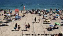 June 26, 2021, Lisbon, Portugal: Beachgoers walk in corridors defined by ropes on a summer day at the Carcavelos beach as the COVID-19 coronavirus pandemic continues, in Cascais, near Lisbon, Portugal, on June 26, 2021. (Credit Image: © Pedro Fiuza/ZUMA Wire