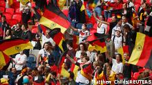 Soccer Football - Euro 2020 - Round of 16 - England v Germany - Wembley Stadium, London, Britain - June 29, 2021 Germany fans in the stands before the match Pool via REUTERS/Matthew Childs