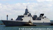 ODESA, UKRAINE - JUNE 18, 2021 - HNLMS Evertsen (F805) frigate of the Royal Netherlands Navy arrives at the port of Odesa, southern Ukraine., Credit:Yulii Zozulia / Avalon