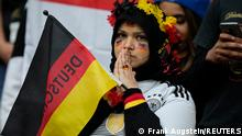 Soccer Football - Euro 2020 - Round of 16 - England v Germany - Wembley Stadium, London, Britain - June 29, 2021 Germany fan reacts after England's Harry Kane scores their second goal Pool via REUTERS/Frank Augstein