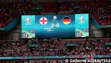 Soccer Football - Euro 2020 - Round of 16 - England v Germany - Wembley Stadium, London, Britain - June 29, 2021 The score at the end of the match Pool via REUTERS/Catherine Ivill