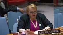 Bilder beschreibung: 8810th meeting- Security Council, Bosnia and Herzegovina, Außenminister Bisera Turkovic