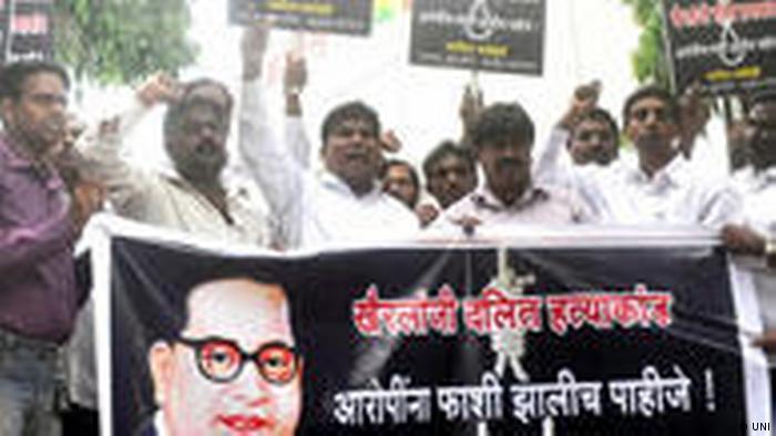 Dalit-Führer protestieren in Mumbai (UNI)