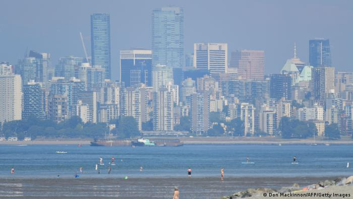 The skyline of Vancouver