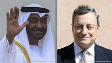 Kombobild Mario Draghi Mohamed Bin Zayed Al Nahyan