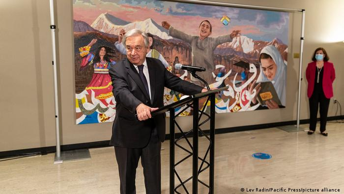 USA Afghanistan Geschenk UN Gemälde Antonio Guterres