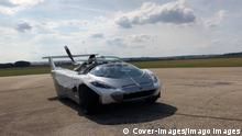 MANDATORY CREDIT: Klein Vision, s.r.o./Cover-images.com ... STORY CAPTION: A car that transforms into a flying vehicle has taken its maiden flight. AirCar V5 is the latest generation flying car that transforms from road vehicle into air vehicle in less than three minutes. Useful for leisure and self-driving journeys, and also as a commercial taxi service, the dual mode transformation vehicle can go from driving to flying mode with the click of a button. The fifth generation flying car designed by Professor Stefan Klein completed two 1500 AGL flights at Piestany airport in Slovakia last week week of 26/10. The model safely achieved two full airport patterns, including two take-offs and landings. Cars can be heavy, but planes PUBLICATIONxNOTxINxUKxFRA Copyright: xx 40991179