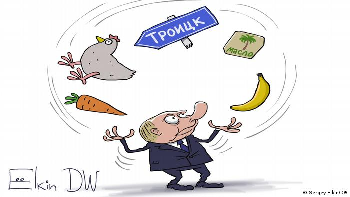 DW Karikatur | Sergey Elkin | Wladimir Putin