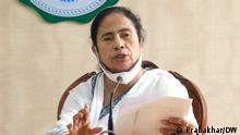 Chief Minister Mamata Banerjee speaking to reporters on the Governor's issue in the state secretariat. When was the picture taken ?: 28-06-2021 Where was the picture taken ?: KOLKATA, WEST BENGAL DW, Prabakhar