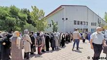 Im Iran bilden sich lange Schlangen für die Impfungen; es mangelt aber an Impfstoffen. Quelle: Nachrichtenagentur shafaqna