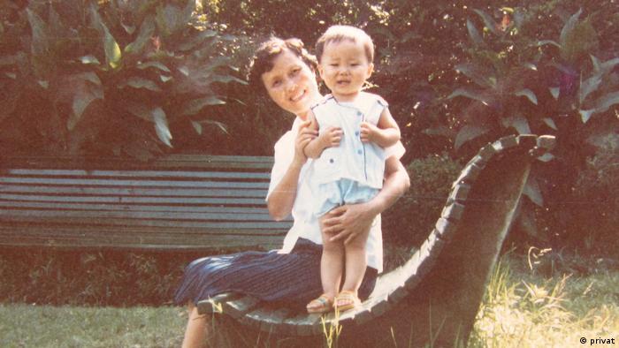 Му Чуи с баба си