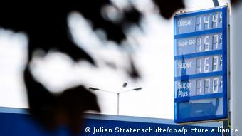 Цены на горючее на бензоколонке в Германии летом 2021 года