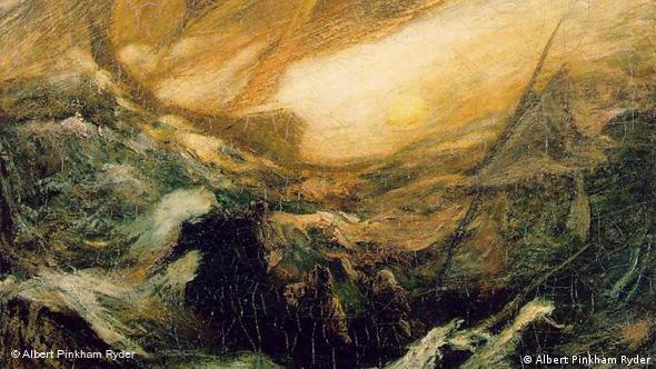 The Flying Dutchman painted by artist Albert Pinkham Ryder.