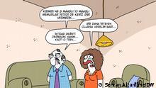 DW-Karikatur von Serkan Altuniğne In der Türkei wird in letzter Zeit bekannt, dass viele hohe Beamte, Staatssekretäre, Akademiker etc. mehr als nur einen Posten, und somit mehrere Gehälter haben.