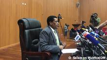 Ambasador Dina Mufti Schlagwörte Dina Mufti,Spokesperson of Ministry of Education,Äthiopien,Addis Abeba Datum 010721 Fotograf solomon Muchie(DW Korii in Äthiopien)